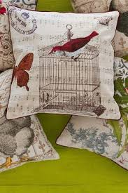 Small Picture Antique French Writing Pillow Shabby Chic French Country Cushion