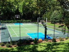 Backyard Basketball Court Ideas  Home Outdoor DecorationBackyard Tennis Court Cost