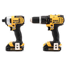 dewalt hammer drill. dewalt dck285c2 20v max cordless lithium-ion 1/2 in. compact hammer drill and impact driver combo kit