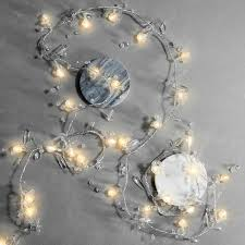 crystal beaded garland string lights 7 5 ft