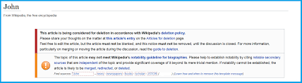 wikipedia article template dont rush your wikipedia presence its not the holy grail
