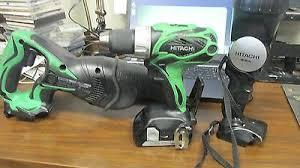 hitachi sawzall. hitachi 18v set sawzall, drill flashlight missing charger sawzall 4