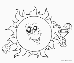 Use the key to color the picture of a flower an. Free Printable Sun Coloring Pages For Kids