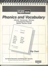 Details About First Grade English Skills Phonics Vocabulary Flip Chart Bju Press