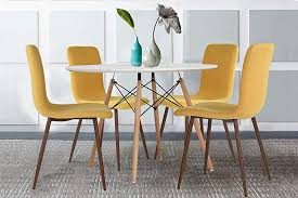 coavas 4 set of eames kitchen dining table chairs set