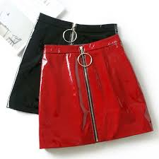 details about women plus size zipper pu leather con pencil above knee mini skirt