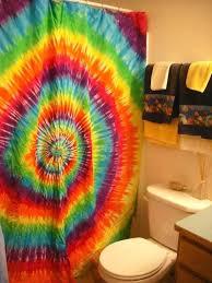 tie dye shower curtains purple curtain bathroom decor