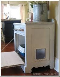Decorative Cat Litter Box Covers Cat litter box cabinet with drawers love this one theres room for 4