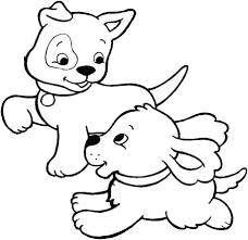 Disegno Di Cuccioli Di Cane Da Colorare Per Bambini Con Disegni Di