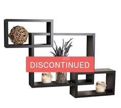 image gray wood square shape wall shelf