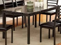 amazon furniture of america casella faux marble top dining table 60 inch tables