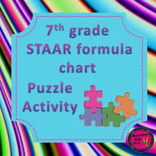 7th Grade Staar Formula Chart Matching Activity 2 Versions