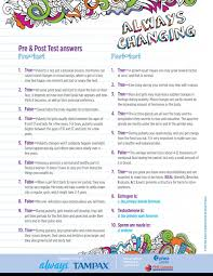 always changing grades 5 6 phe do you know about puberty answers
