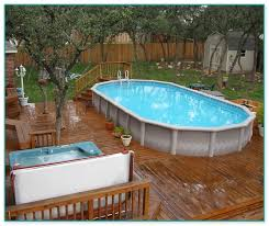 gorgeous above ground pool wood deck kits 2