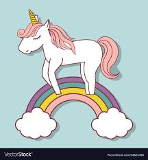 Magical Unicorn Design Royalty Free Vector Image