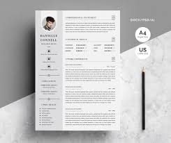 Modern Technical Skills For Resume Modern Resume Cv Template 4 Pages Pack