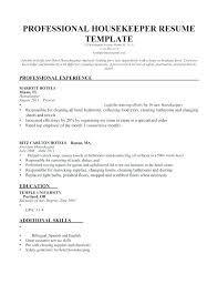Housekeeping Resume Examples Inspiration Housekeeping Resumes Housekeeping Resumes Samples Resume Housekeeper