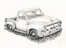 Old Ford Truck Drawing | sketches | Pinterest | Old ford trucks ...
