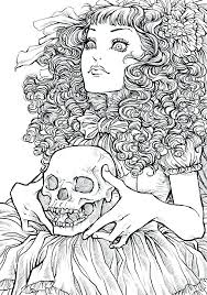 Creepy Coloring Pages Creepy Coloring Pages Scary For Adults Monster
