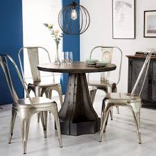 telford industrial round dining table 4 seater
