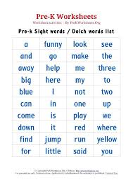Sight Words Worksheets Preschool Free For 4th Grade Language Arts ...