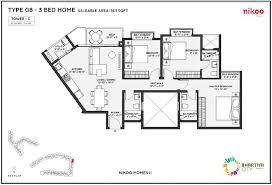 bhartiya city nikoo homes phase 2 1411 sq ft