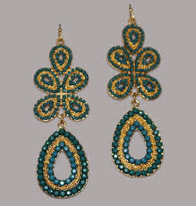 chandelier earrings green1 jpg