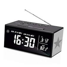 radio for office. KABB Clock Radio, 7 Inches LCD Display FM Dual Alarm With Snooze,  Sleep Radio For Office F