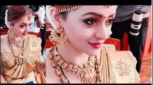 actress bhavana marriage bridal makeup video