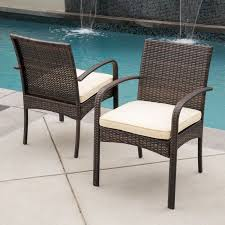 patio dining chair cushions. Dark Brown Square Modern Rattan Outdoor Patio Chairs Stained Design For Chair Dining Cushions