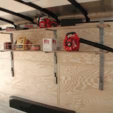 rack em sliding wall shelf kit enclosed trailer ra 24