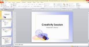Powerpoint For Brainstorming Template