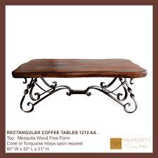 Iron Coffee Table Base Coffee Rectangular Table Iron Base Chocolate Finish Mesquite Free