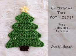 Crochet Decoration Patterns Christmas Tree Pot Holder Pattern Crochet Knit Melodys Makings