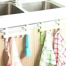 kitchen towel hanger. Kitchen Towel Hanger Dish Holder Hanging Cupboard Removable Shelf Organizer Clean . R