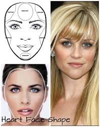 for heart face shapes distinct features are having wide forehead and cheekbones but tends to be narrow at the jawline for contouring contour your cheeks