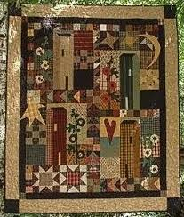 41 best Primitive Folk Art Quilt images on Pinterest | Primitive ... & Hollyhock Houses pattern by Country Quilts Adamdwight.com