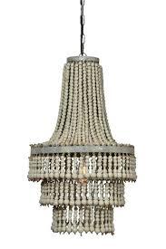 wood bead chandelier wooden white wood bead chandelier