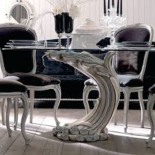 glass kitchen table antique silver pedestal round glass dining table set round glass kitchen tables for