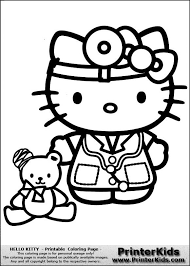 Hello Kitty Doctor Coloring Pages Hello Kitty Doctor Kitty