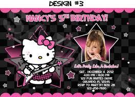 Hello Kitty Birthday Party Invitations Photo Rockstar Printable