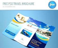 Travel Brochure Cover Design Free Travel Flyer Templates And Tourism Brochure Agency