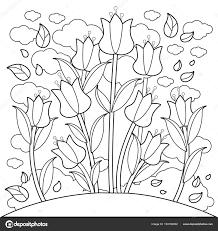 Tulp Bloemen Boek Kleurplaat Stockvector Stockakia 193190002