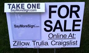 for sale by owner brochure for sales by owner sign brochure holders zillow trulia craigslist