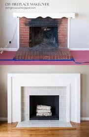 diy fireplace makeover for 200 blog post with photos and step by step instructions