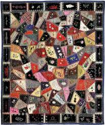 Crazy quilt | soft furnishing | Britannica.com & Woolen crazy quilt made by Edna Force Davis, Fairfax county, Virginia, 1897. Adamdwight.com