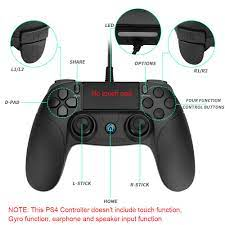 Controller für PS4,Powcan PS4 Controller Wired Gaming Gamepad mit  Dual-Vibration-Turbo für PS4/PS4 Slim/PS4 Pro und PC(Windows 7 / 8 / 10)mit  2,2m USB Kable: Amazon.de: Games