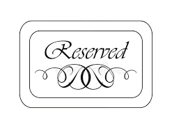 Reserved Signs Templates Verticle Reserved Signs Templates Free