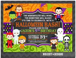 Free Halloween Birthday Invitation Templates Birthday Invitations Halloween Birthday Party Invitations