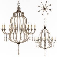 currey and company waterloo chandelier lighting 3d model max obj fbx mtl mat 1